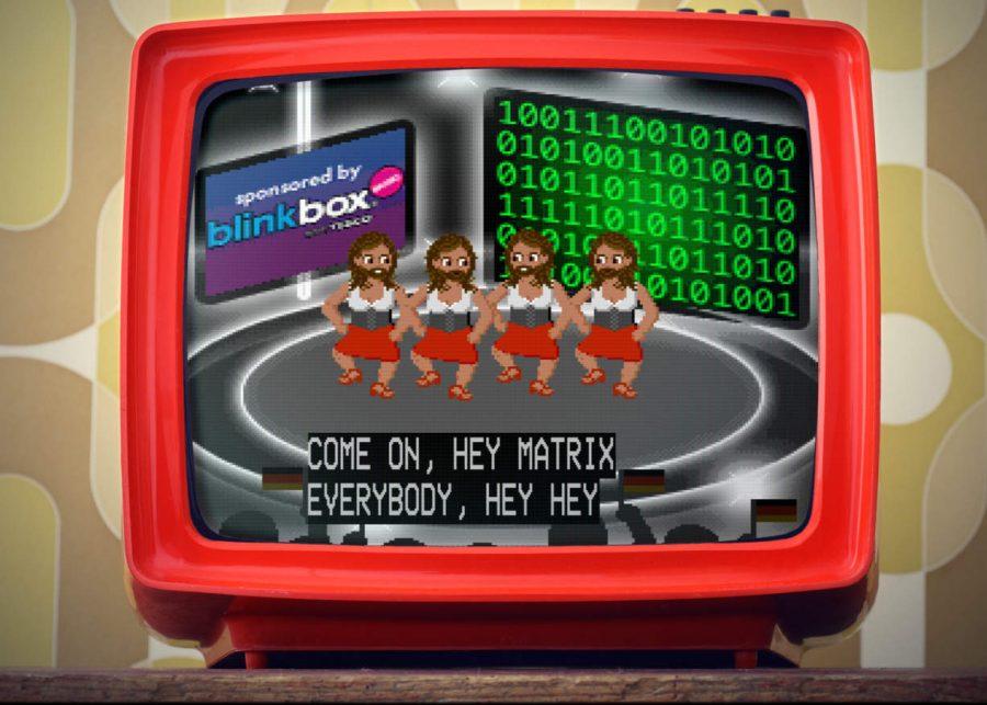 Ein Screenshot des Eurosong Generators der Songs für den Eurovision Song Contest generiert.