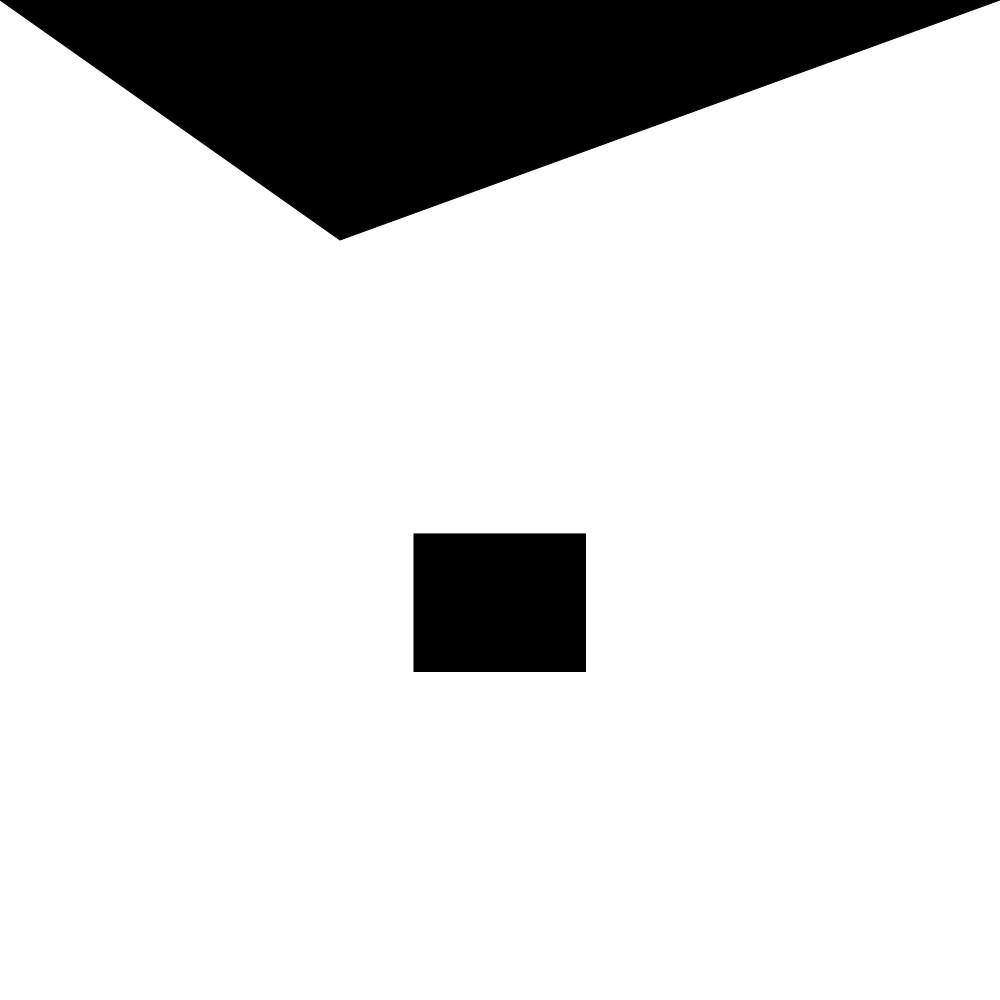 Eine minimalisierte Darstellung Adolf Hitlers