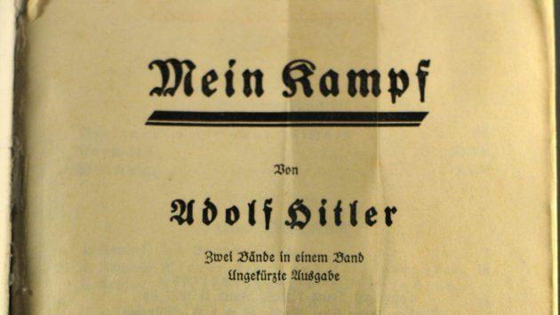 Der Schmutztitel von Mein Kampf