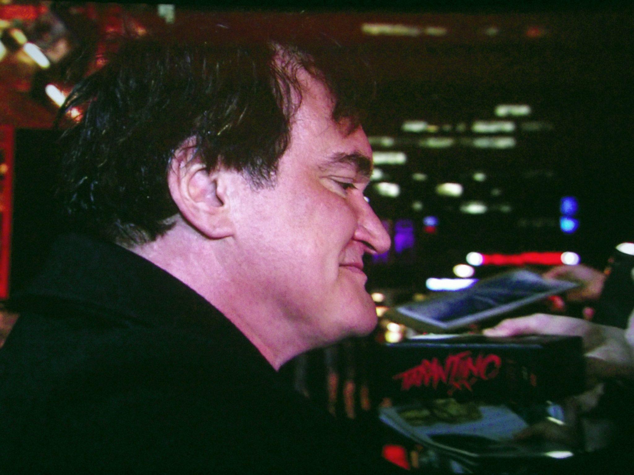 Quentin Tarantino in Berlin bei der Premiere von Hateful 8