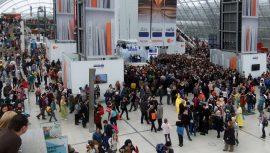 Die Besucher der Leipziger Buchmesse