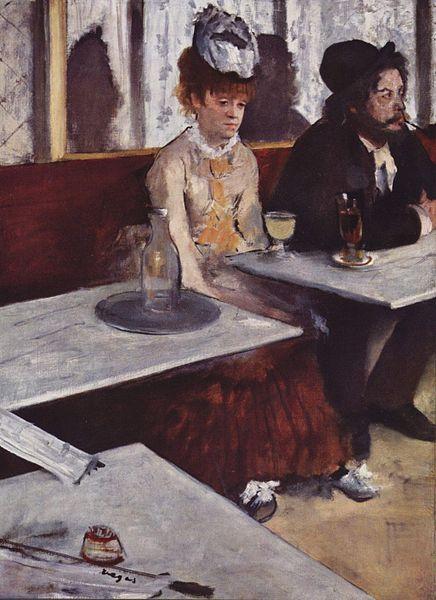 zu 7 - Edgar Degas - L'Absinthe - 1876 - public domain