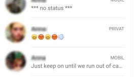 WhatsApp Statusmeldungen
